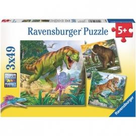 Ravensburger Puzzle - Herrscher der Urzeit, 3 x 49 Teile