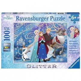 Ravensburger Puzzle - Glitzerpuzzle - Frozen - Glitzernder Schnee, 100 Teile