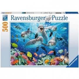 Ravensburger Puzzle - Delfine im Korallenriff, 500 Teile