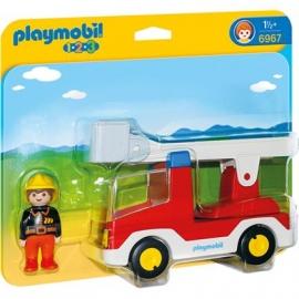 PLAYMOBIL® 6967 - 1 2 3 PLAYMOBIL®® - Feuerwehrleiterfahrzeug