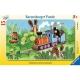 Ravensburger Puzzle - Rahmenpuzzle - Der Maulwurf als Lokführer, 15 Teile