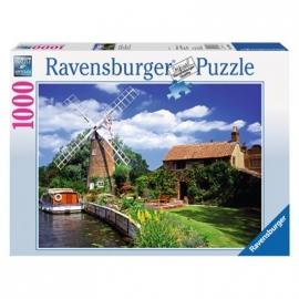 Ravensburger Puzzle - Malerische Windmühle, 1000 Teile