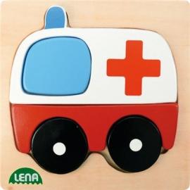 Lena - Holzspielzeug - Holzpuzzle Krankenwagen