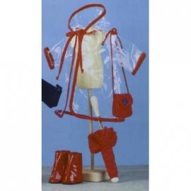 Bekleidung: 47cm Regenmantel mt Stiefeln