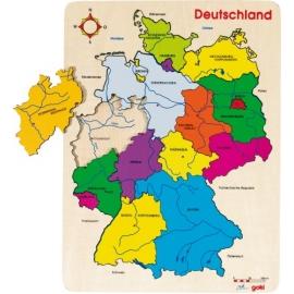 goki 57860 Einlegepuzzle Deutschland mit 16 Teilen