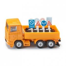 SIKU Super - LKW mit Verkehrszeichen