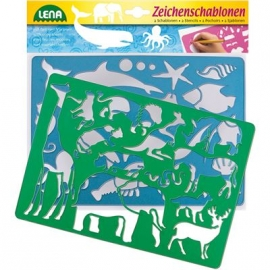 Lena - Pre School - Zeichenschablonen Afrika und Meerestiere