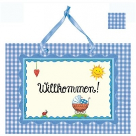 Coppenrath - Großes Fotoalbum: Willkommen! (hellblau)