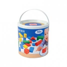HEROS - Bunte Holzbausteine Baby-Box 50