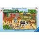 Ravensburger Puzzle - Rahmenpuzzle - Glückliches Bauernhofleben, 15 Teile