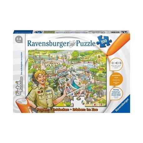 Ravensburger Spiel - tiptoi - Puzzeln - Entdecken - Erleben: Der Zoo, 100 Teile