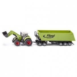 SIKU Farmer - Traktor mit Frontlader, Dolly und Muldenkipper