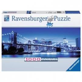 Ravensburger Puzzle - Panorama Puzzle - Leuchtendes New York, 1000 Teile
