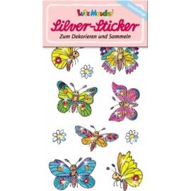 Silver-Sticker Schmetterlinge