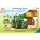 Ravensburger Puzzle - Rahmenpuzzle - Traktor auf dem Bauernhof, 15 Teile