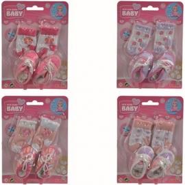 Simba - New Born Baby - Schuhe und Socken, 4-sort.