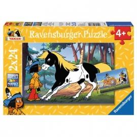 Ravensburger Puzzle - Yakari und kleiner Donner, 2x24 Teile