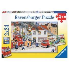 Ravensburger Puzzle - Bei der Feuerwehr, 2x24 Teile
