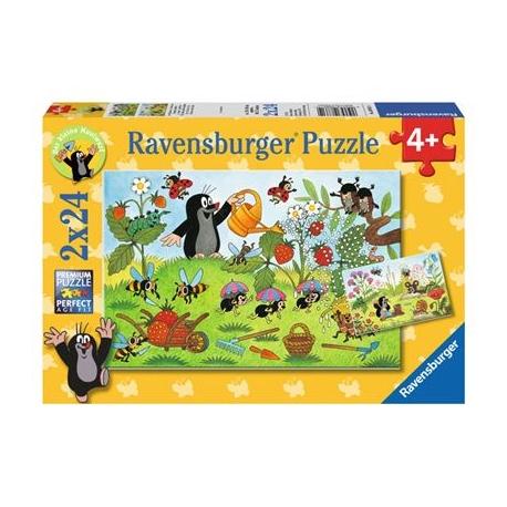 Ravensburger Puzzle - Der Maulwurf im Garten, 2x24 Teile