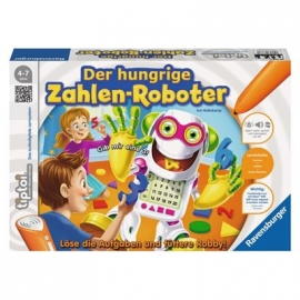 Ravensburger Spiel - tiptoi - Der hungrige Zahlen-Roboter