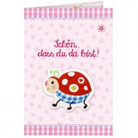 Coppenrath - Grußkarte - Schön, dass du da bist!, rosa