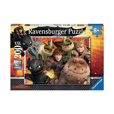Ravensburger Puzzle - Hicks, Astrid und die Drachen, 200 XXL-Teile