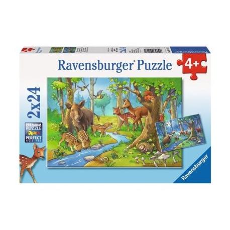 Ravensburger Puzzle - Tiere des Waldes, 2x24 Teile