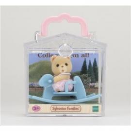 Sylvanian Families - Minibox - Bär auf Schaukelpferd