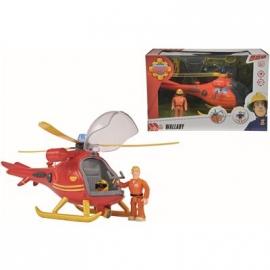 Simba - Feuerwehrmann Sam - Hubschrauber mit Figur
