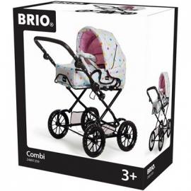 BRIO - Puppenwagen Combi, grau mit Punkten