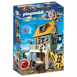 PLAYMOBIL® 4796 - Super 4 - Getarnte Piratenfestung mit Ruby