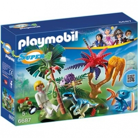 PLAYMOBIL® 6687 - Super 4 - Lost Island mit Alien und Raptor