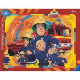 Ravensburger Puzzle - Rahmenpuzzle - Sam, der Feuerwehrmann, 33 Teile
