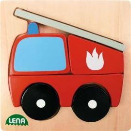 Lena - Holzspielzeug - Holzpuzzle Feuerwehr