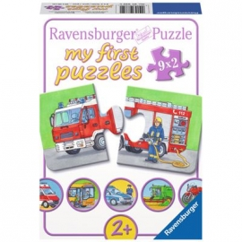 Ravensburger Puzzle - my first Puzzle - Einsatzfahrzeuge, 9 x 2 Teile