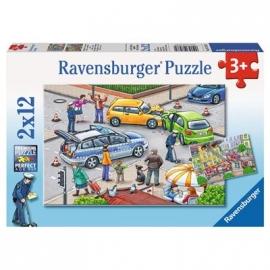 Ravensburger Puzzle - Mit Blaulicht unterwegs, 2 x 12 Teile