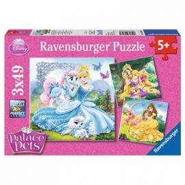 Ravensburger Puzzle - Palace Pets, 3 x 49 Teile