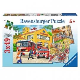 Ravensburger Puzzle - Feuerwehreinsatz, 3 x 49 Teile