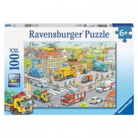 Ravensburger Puzzle - Fahrzeuge in der Stadt, 100 XXL-Teile