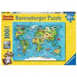 Ravensburger Puzzle - Reise um die Welt, 100 XXL-Teile
