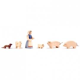 Schwein, Rüssel tief