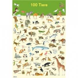 Carlsen Verlag - Mein Lernposter: 100 Tiere