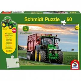 Schmidt Spiele - John Deere: 8370R Traktor, 60 Teile