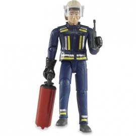 BRUDER bworld - Feuerwehrmann mit Zubehör