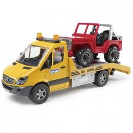 BRUDER - MB Sprinter Autotransporter mit L & S Module und Geländewagen