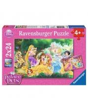 Ravensburger Puzzle - Beste Freunde der Prinzessinnen, 2 x 24 Teile