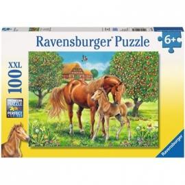 Ravensburger Puzzle - Pferdeglück auf der Wiese, 100 XXL-Teile