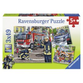 Ravensburger Puzzle - Helfer in der Not, 3 x 49 Teile