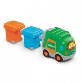 VTech - Tut Tut Baby Flitzer - Müllauto und 2 Mülltonnen