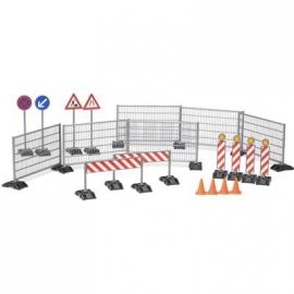 BRUDER bworld Zubehör - Baustellenset: Zäune, Schilder und Pilonen